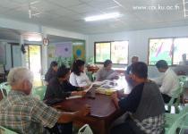 สำรวจพื้นที่รวบรวมข้อมูล และประชุมกลุ่มเป้าหมาย ณ กลุ่มวิสาหกิจชุมชนเกษตรอินทรีย์ทุ่งทองยั่งยืน