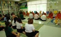 Ceremory to 9 monks in time of Thai New Year day.